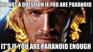 Paranoia Drinking game