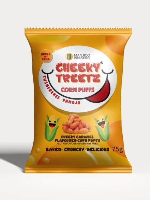 Cheeky Treetz Corn Puffs Caramel 40g