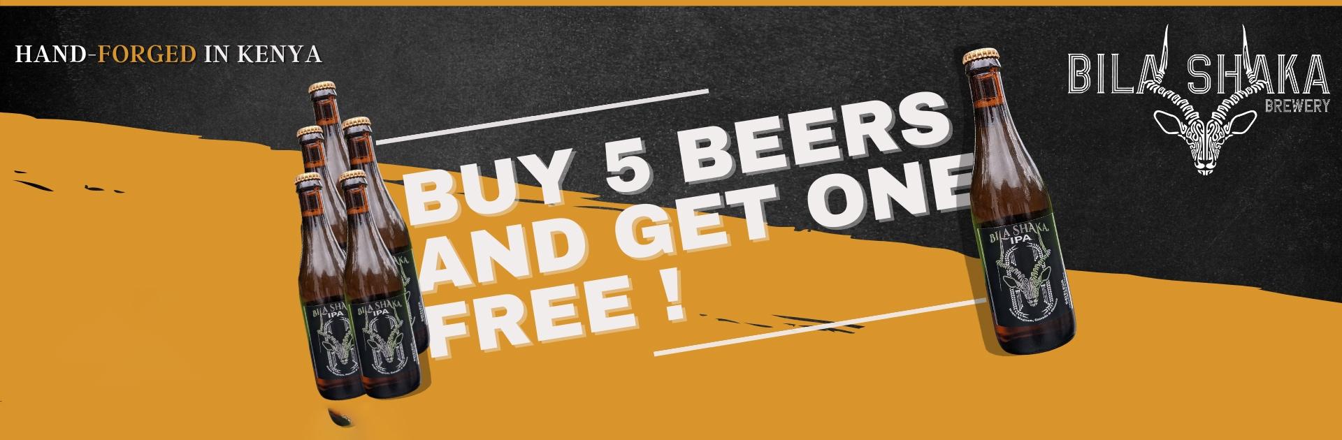 Buy 5 Bateleur Beers, get 1 free!