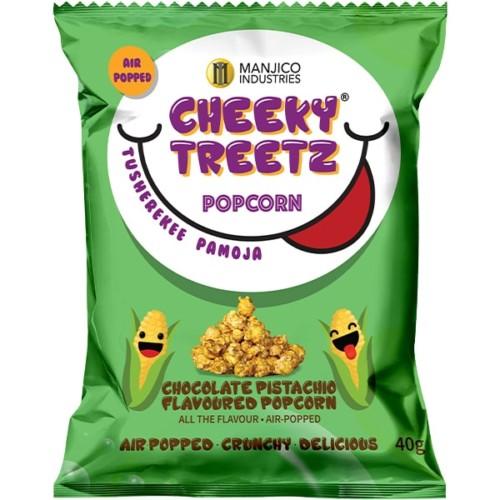 Cheeky Treetz Popcorn Chocolate Pistachio 40g