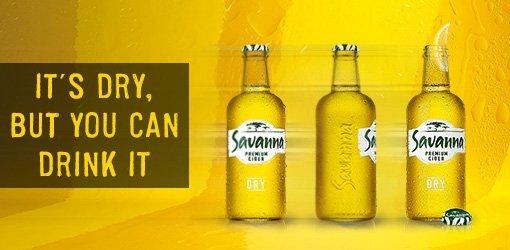 Savana Dry Premium Cider beer