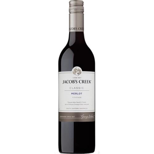 Jacob's Creek Classic Merlot - Dry Red Wine 75cl