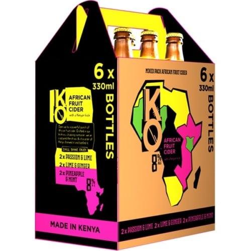 KO African Fruit Cider Assorted 6x330ml