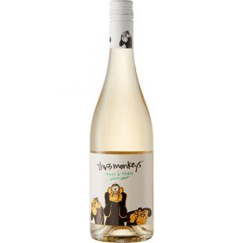 Thr3 Monkeys White Wine 75cl